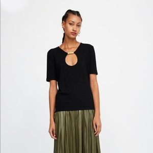 Zara Ribbed Top with Beads